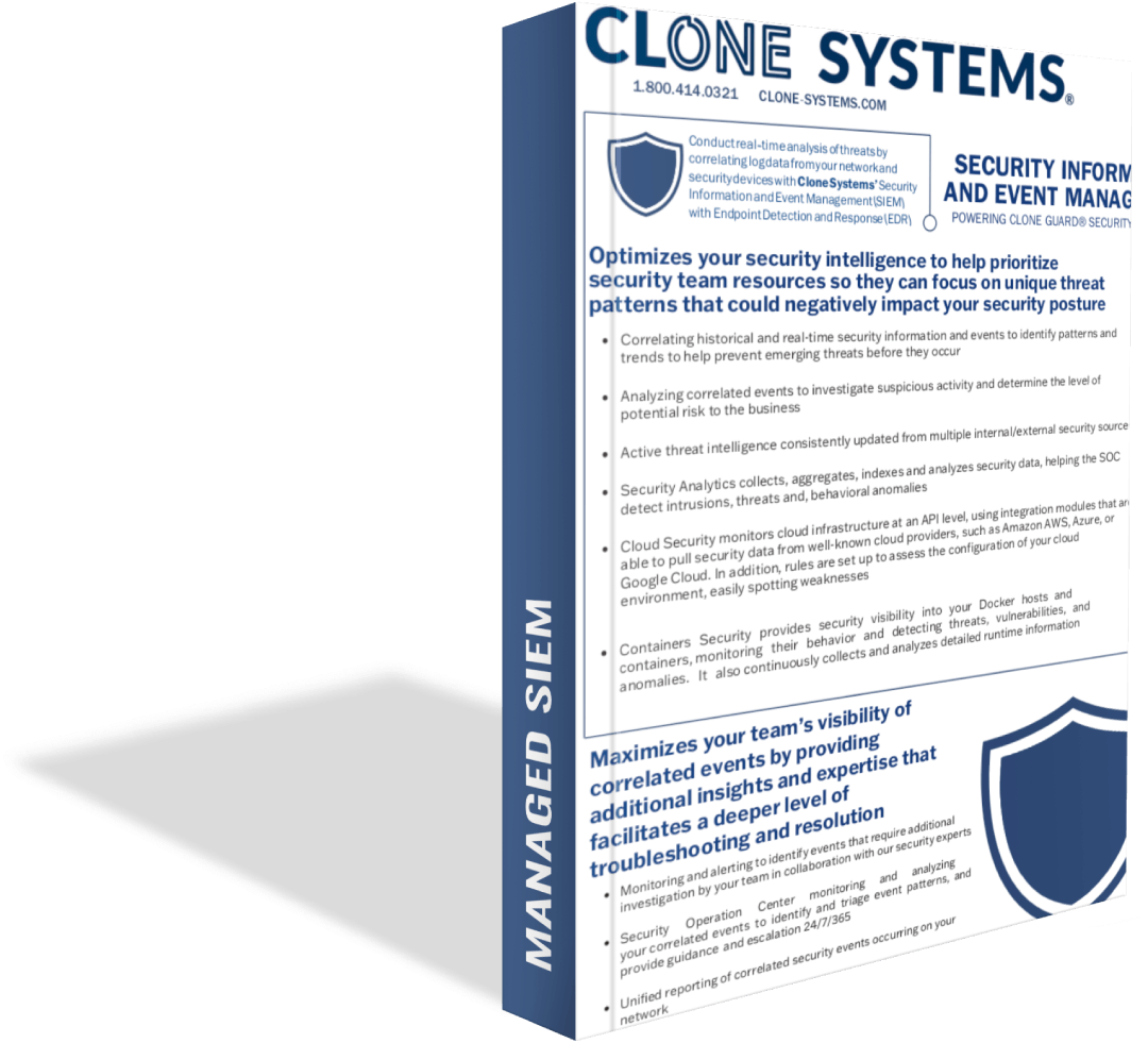 Clone Systems Managed SIEM Product Sheet