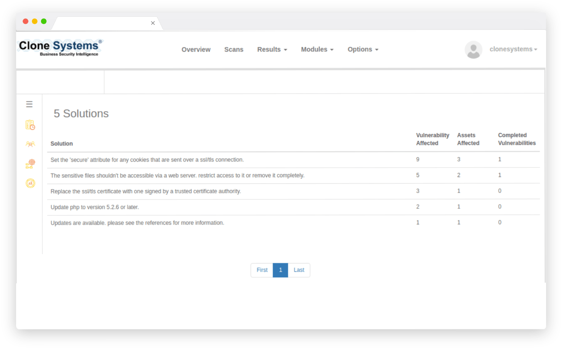 Vulnerability Remedation Module Screenshot